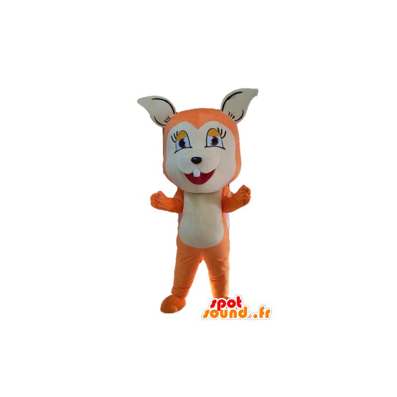 Mascotte de renard orange et blanc, mignon et attendrissant - MASFR23058 - Mascottes Renard