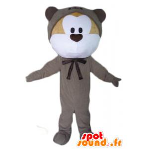 Mascot beige og hvite bamser, grå kombinasjon - MASFR23070 - bjørn Mascot