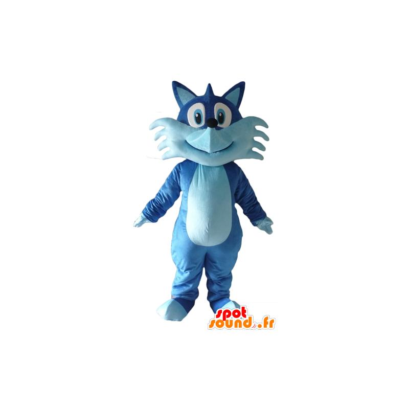 Mascot pretty blue fox, bicolor, cheerful - MASFR23075 - Mascots Fox