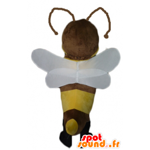 Mascot brown and yellow bee, pretty and feminine - MASFR23077 - Mascots bee