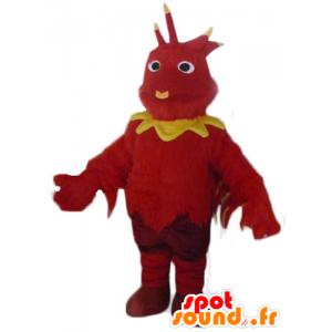Dragon mascot, red and yellow bird - MASFR23078 - Mascot of birds