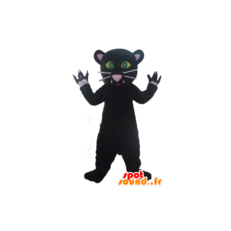 Mascot Pantera Negra Muito Bonito E Muito Realista Em Tiger Mascotes