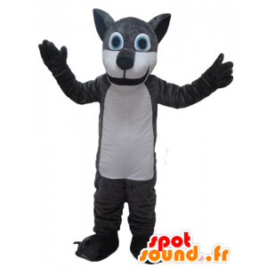 Gigante de la mascota del lobo, gris y blanco - MASFR23093 - Mascotas lobo