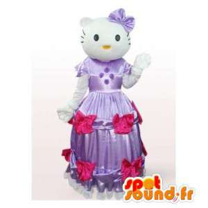 Mascotte de Hello Kitty en robe de princesse violette - MASFR006560 - Mascottes Hello Kitty