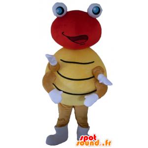 Maskotka czerwony i żółty biedronka, kropki - MASFR23126 - maskotki Insect