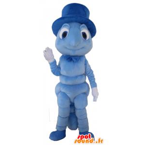 Maskot larve, johannesbrød, blå insekt - Spotsound maskot