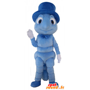 Rups mascotte, cricket, blauw insect - MASFR23127 - mascottes Insect
