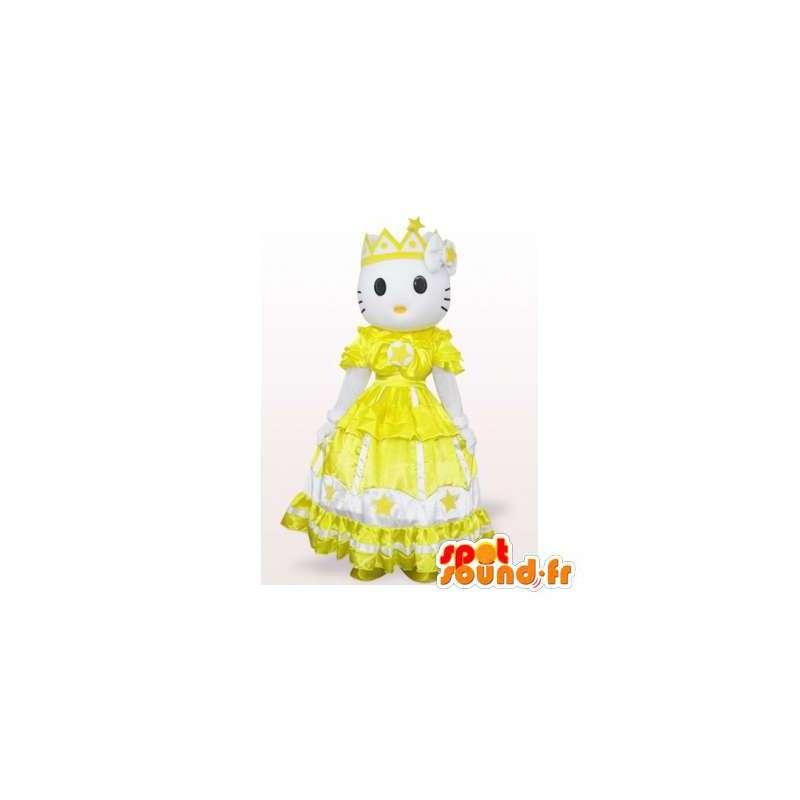 Mascot Hello Kitty princess dress yellow - MASFR006561 - Mascots Hello Kitty