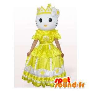 Mascotte Ciao Kitty principessa vestito giallo - MASFR006561 - Mascotte Hello Kitty
