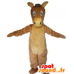 Caballo marrón mascota y beige, culo gigante - MASFR23149 - Caballo de mascotas