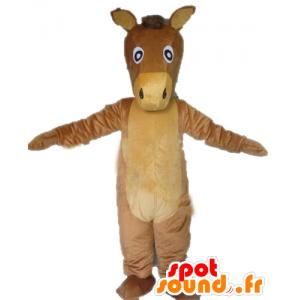 Cavallo marrone mascotte e beige, culo gigante - MASFR23149 - Cavallo mascotte