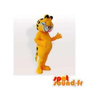 Garfield maskotti, kuuluisa oranssi ja musta kissa