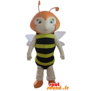 Mascot Red Bee, gestreift schwarz und gelb - MASFR23165 - Maskottchen Biene