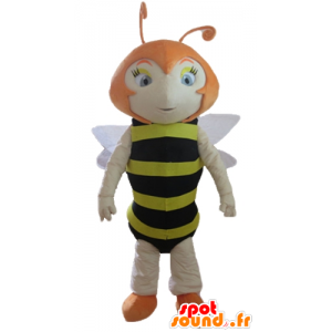 Mascot red bee, striped black and yellow - MASFR23165 - Mascots bee