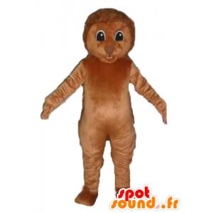 Mascotte riccio marrone con picchi nella parte posteriore - MASFR23170 - Mascotte Hedgehog