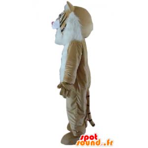 Mascot gepard, brun katt, hvit og svart - MASFR23178 - Tiger Maskoter