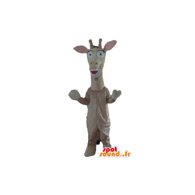 Mascot giant giraffe, beige and brown - MASFR23181 - Giraffe mascots