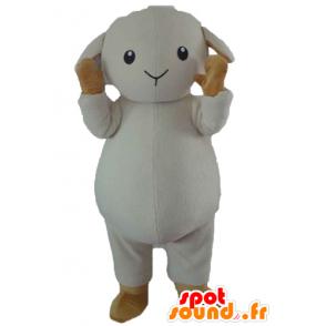 Mascot Schaf- und braun weiß - MASFR23189 - Maskottchen Schafe