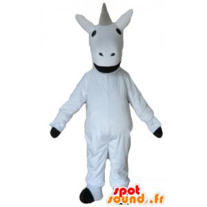 Mascot schöne weiße und schwarze Einhorn Riesen - MASFR23193 - Fehlende tierische Maskottchen