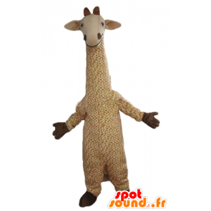 MASCOT velké béžové a bílé žirafa, puntíkovaný