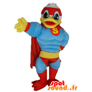 Donald Duck mascot, the famous duck, dressed in superhero - MASFR23199 - Donald Duck mascots