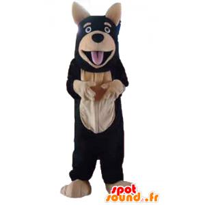 Riesiger Hund Maskottchen, schwarz und beige - MASFR23201 - Hund-Maskottchen