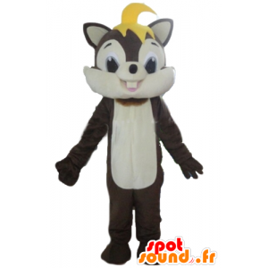 Mascot brown and white squirrel, sweet and hairy - MASFR23219 - Mascots squirrel