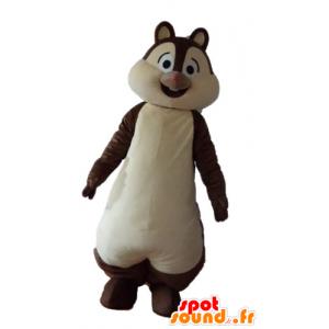 Mascot castanho e branco esquilo, Tic ou Tac