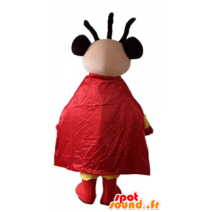 African-American superhero mascot dressed in yellow and red - MASFR23224 - Superhero mascot