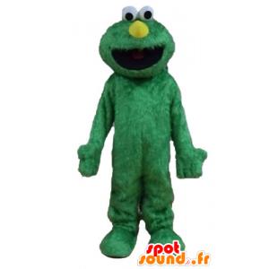 マペットショーの有名な人形、マスコットエルモ、緑-MASFR23228-マスコット1 rue sesame Elmo