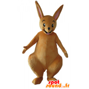 Brown kangaroo mascot, very funny and smiling