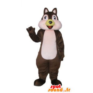Mascot brown and pink squirrel, Tic Tac or