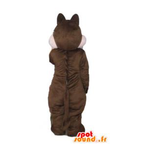 Mascot Braun und Rosa Eichhörnchen, Tic Tac oder - MASFR23241 - Maskottchen Eichhörnchen