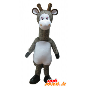 Mascot cinzento e branco girafa, manchado