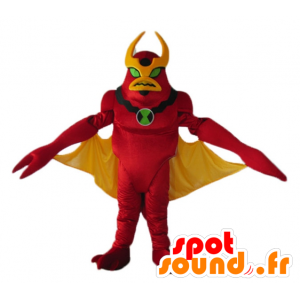 Mascot red and yellow robot, toy, alien - MASFR23262 - Mascots of Robots