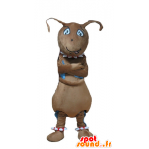 Brown mascotte formica, gigante, divertente