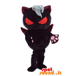 Maskotti pirullinen kissa oranssi silmät ja siivet - MASFR23279 - kissa Maskotteja