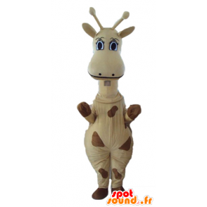 Mascot yellow and brown giraffe, giant - MASFR23282 - Giraffe mascots
