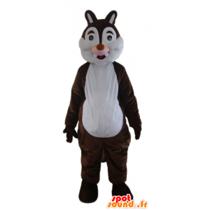 Mascotte d'écureuil marron et blanc, de Tic ou Tac