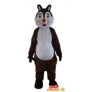 Mascotte marrone e bianco scoiattolo, Tic Tac o