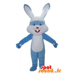 Jättiläinen kani maskotti, sininen ja valkoinen isot korvat - MASFR23311 - maskotti kanit