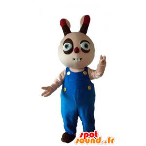 Beige og brun kanin maskot, lubben, rund og søt - MASFR23314 - Mascot kaniner