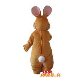 Brown und weißes Kaninchen Maskottchen, weich und elegant - MASFR23321 - Hase Maskottchen