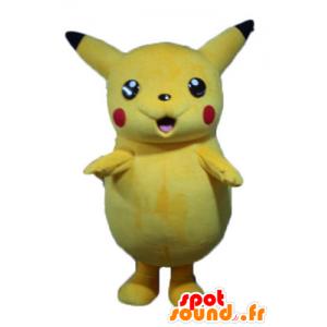 Pikachu maskot, berömd tecknad gul Pokemeon - Spotsound maskot