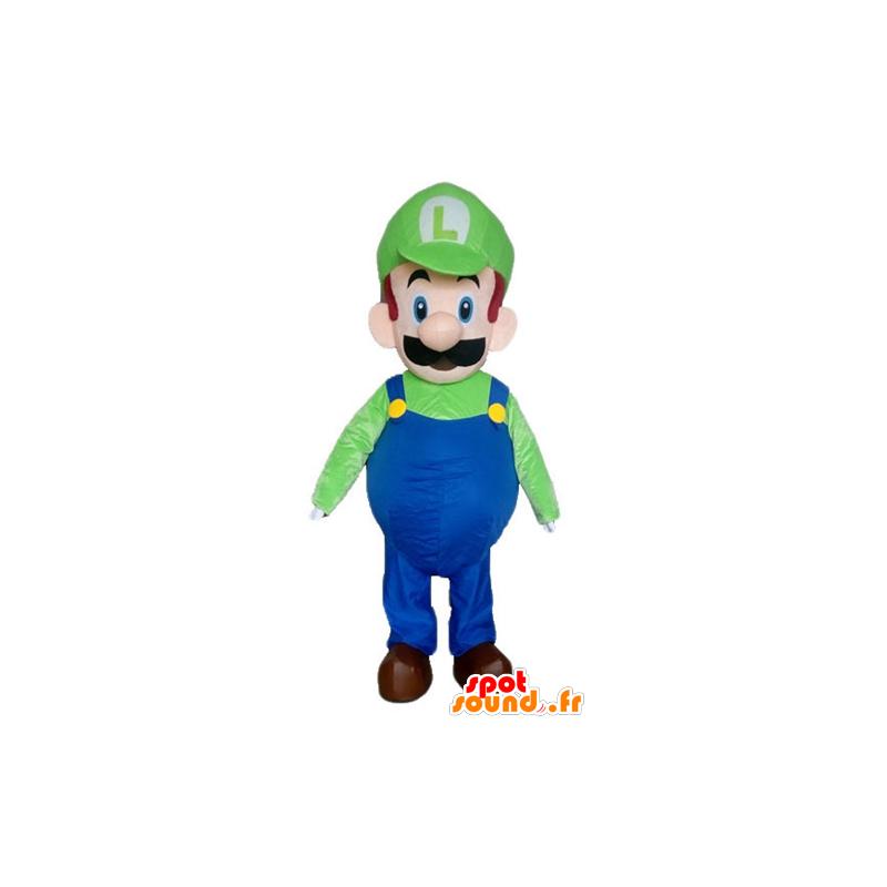 Mascotte de Luigi, célèbre personnage de jeu vidéo - MASFR23345 - Mascottes Mario