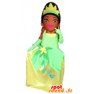 Mascot Princess Tiana from the Princess and the Frog