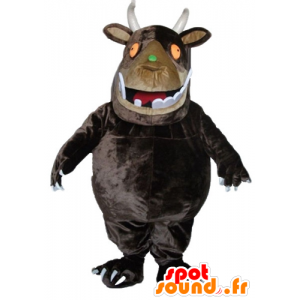 Mascotte big brown monster with big teeth - MASFR23347 - Monsters mascots