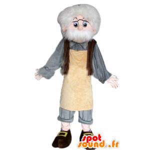 Mascot Geppetto, de beroemde personage Pinocchio's - MASFR23348 - mascottes Pinocchio