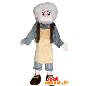 Mascot Geppetto, famoso personaje de Pinocho - MASFR23348 - Mascotas Pinocho