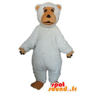Maskotti suuri valkoinen ja ruskea karhu, söpö ja pullea - MASFR23360 - Bear Mascot